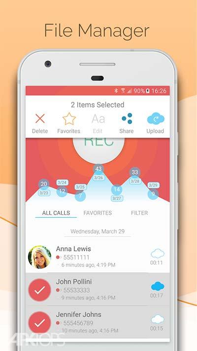 CallBOX Automatic Call Recorder v5.0 دانلود برنامه ضبط مخفی مکالمات