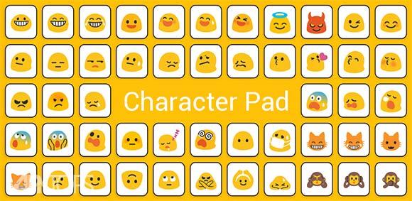 Character Pad Symbols دانلود کاراکترپد برنامه تایپ تمامی کاراکتر های نوشتاری