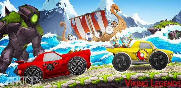 Viking Legends Funny Car Race Game دانلود بازی افسانه های وایکینگ