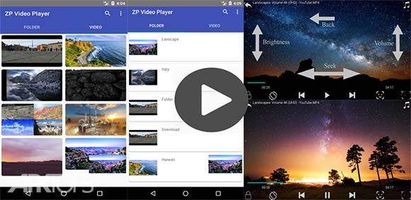 ZP Video Player Pro دانلود برنامه پخش فیلم ها
