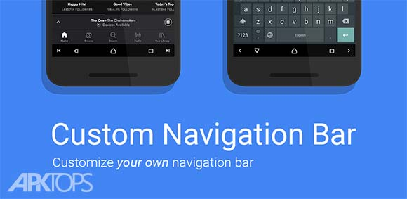 Custom Navigation Bar دانلود برنامه تغییر نوار مکان نما به شکل اندروید اُ