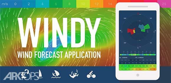 WINDY wind & weather forecast دانلود برنامه ویندی نمایش پیش بینی اب و هوا و باد