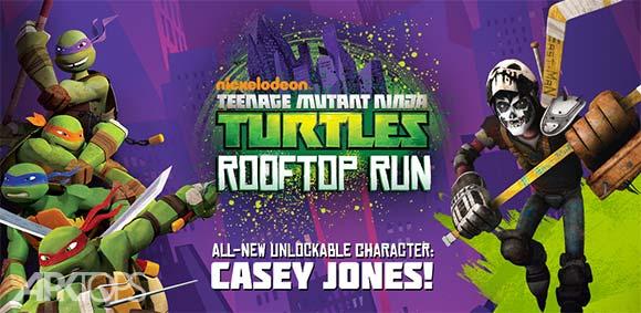 TMNT ROOFTOP RUN دانلود بازی لاک پشت های نینجا دویدن در پشت بام