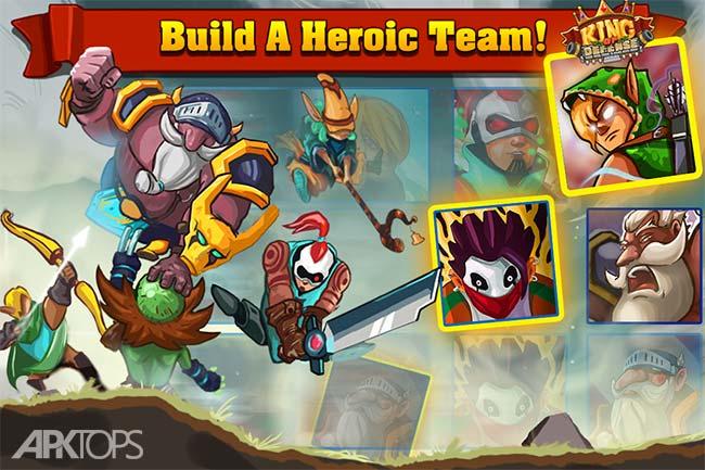 King Of Defense: Battle Frontier v1.2.8 دانلود بازی پادشاه دفاع آخرین مدافع + مود اندروید