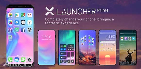 X Launcher Prime Phone X Theme IOS Control Center دانلود برنامه لانچر آیفون ایکس