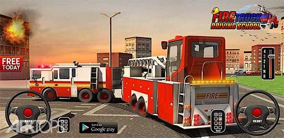 Fire Truck Driving School 911 Emergency Response دانلود بازی آموزش رانندگی با ماشین آتش نشانی