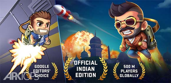Jetpack Joyride India Exclusive Official دانلود بازی فوق العاده جت پک نسخه اختصاصی هند