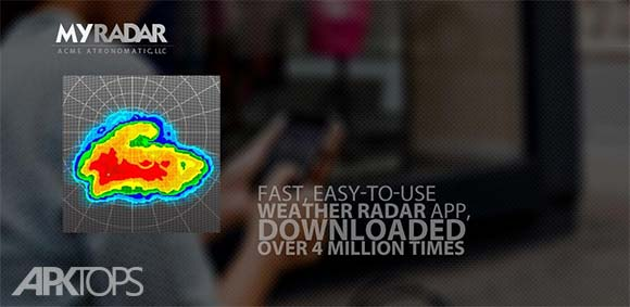 MyRadar Weather Radar دانلود برنامه نمایش نقشه های رادار هواشناسی