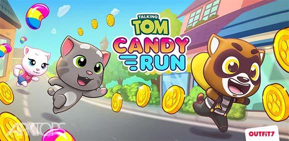 Talking Tom Candy Run دانلود بازی دویدن گربه ی سخنگو برای شکلات