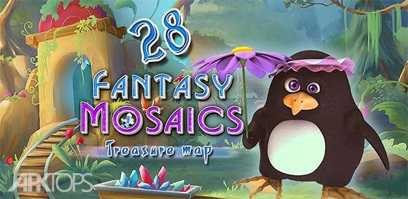 Fantasy Mosaics 28 Treasure Map دانلود بازی موزاییک های فانتزی نقشه گنج