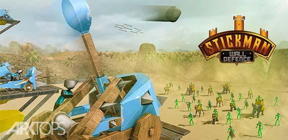 Stickman Castle Defense دانلود بازی دفاع از قلعه ی استیکمن ها