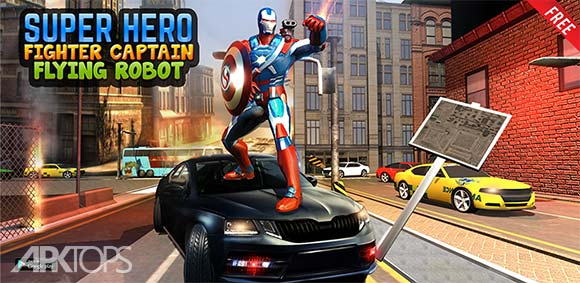 Super Captain Flying Robot City Rescue Mission دانلود بازی سوپر کاپیتان ربات پرنده در عملیات نجات شهر