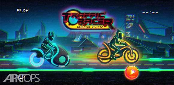 Bike Race Game Traffic Rider Of Neon City دانلود بازی مسابقه موتور سواری در ترافیک