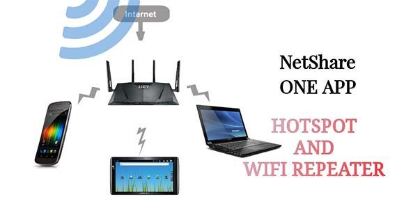 NetShare-no-root-tethering WiFi Hotspot دانلود برنامه اشتراک گذاری اینترنت Wi-Fi یا دیتای گوشی