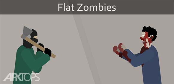 Flat Zombies Defense & Cleanup دانلود بازی پاک سازی زامبی ها
