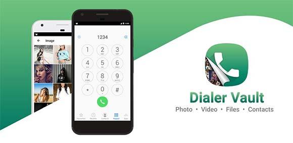 Dialer Vault VaultDroid Hide Photo Video OS 10 دانلود برنامه مخفی سازی فایل ها با ظاهر دایلر گوشی