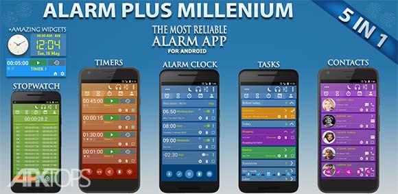 Alarm Clock & Timer & Stopwatch & Tasks & Contacts دانلود برنامه ساعت حرفه ای