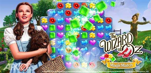 The Wizard of Oz Magic Match 3 دانلود بازی جادوگر شهر جادویی از