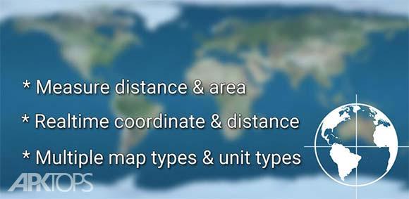 Measure Distance Map دانلود برنامه اندازه گیری فاصله از روی نقشه