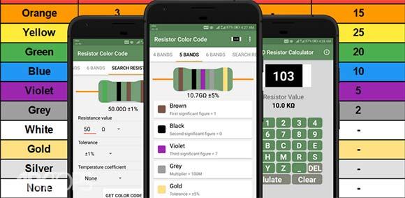 Resistor Color Code And SMD Code Calculator دانلود برنامه محاسبه ی کد مقاومت رنگی و اس ام دی