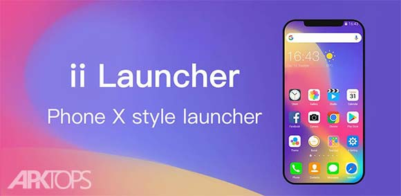 ii Launcher for Phone 8 & Phone X Prime دانلود برنامه لانچر ایفون ایکس و آیفون 8