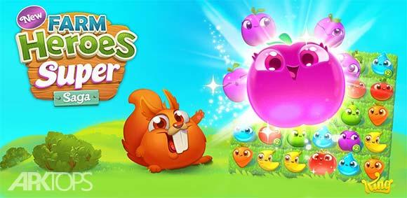 Farm Heroes Super Saga دانلود بازی مزرعه ی قهرمانان بزرگ