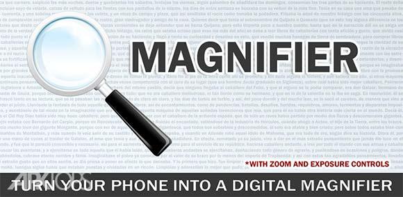 Magnifier Magnifying Glass with Flashlight دانلود برنامه ذره بین با فلش