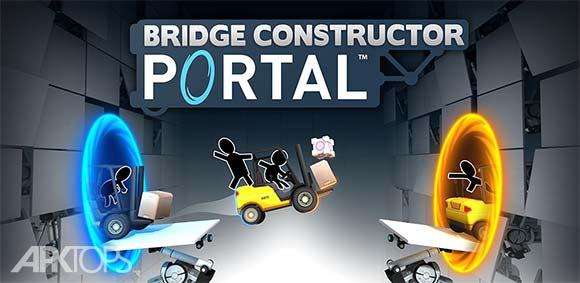 Bridge Constructor Portal دانلود بازی پورتال پل سازی