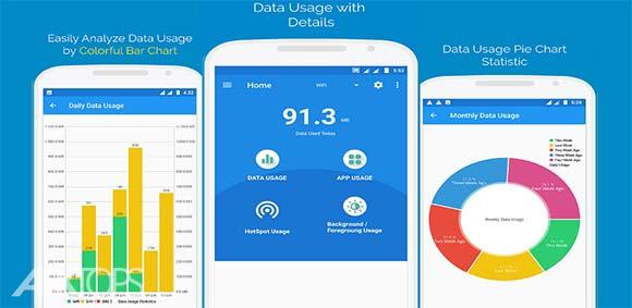 Internet Data Usage دانلود برنامه نمایش میزان استفاده از اینترنت