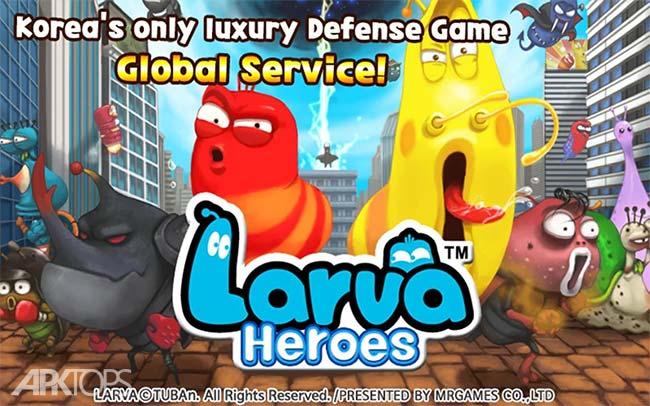 Larva Heroes Lavengers دانلود بازی قهرمان های لاروا