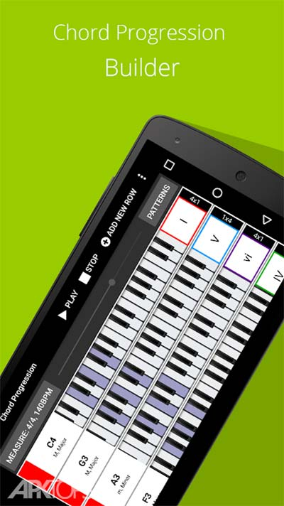Piano Chords Scales Progression Companion PRO v6.31.413 دانلود برنامه اموزش اکورد های پیانو