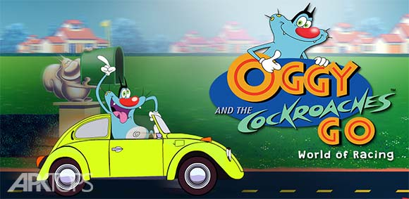 Oggy Go World of Racing The Official Game دانلود بازی رسمی کارتون جذاب اوگی