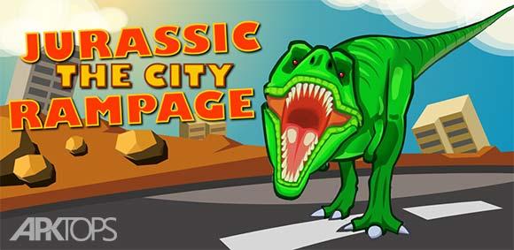 Jurassic Dinosaur City rampage دانلود بازی دایناسور های ژوراسیک در قلب شهر