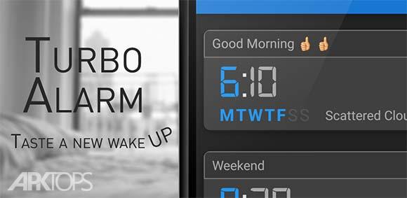 Turbo Alarm Alarm Clock Free دانلود برنامه ساعت زنگ دار