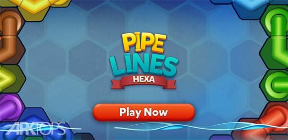 Pipe Lines Hexa دانلود بازی خطوط لوله هگزا
