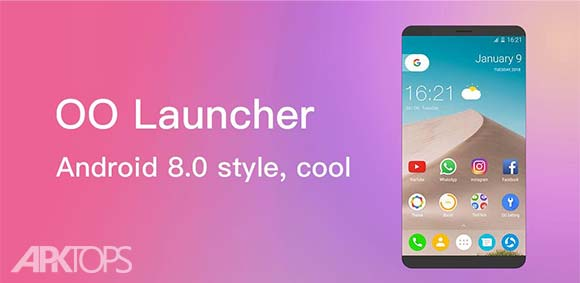 OO Launcher for Android O 8.0 Oreo Launcher دانلود برنامه لانچر اندروید هشت اریو
