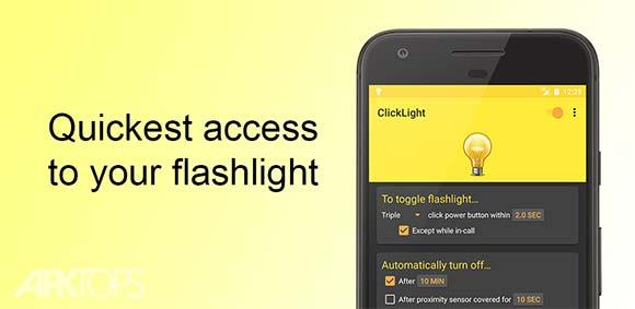 ClickLight Fastest Flashlight دانلود برنامه روشن کردن سریع چراغ قوه گوشی