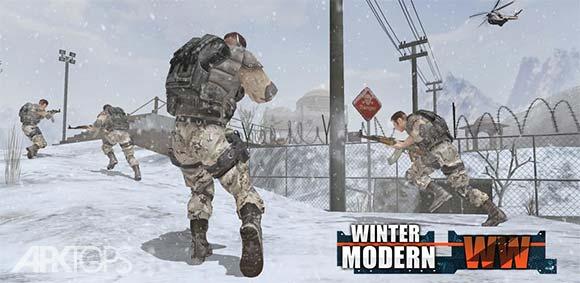 Rules of Modern World War Winter FPS Shooting Game دانلود بازی قوانین جنگ جهانی مدرن در زمستان