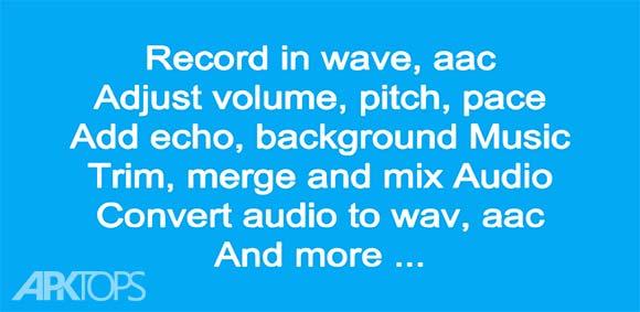 Audio Recorder and Editor دانلود برنامه ضبط صدا و ویرایش کننده