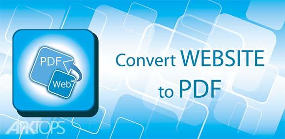 Convert web to PDF دانلود برنامه تبدیل صفحات وب به پی دی اف