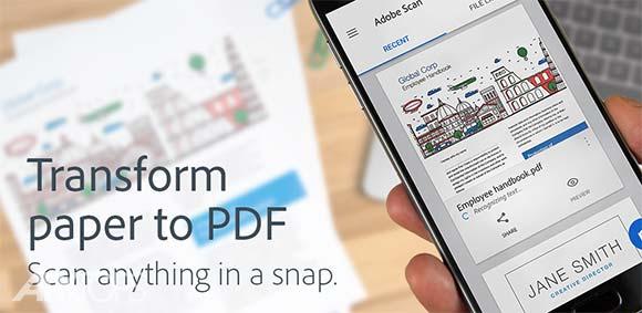 Adobe Scan PDF Scanner OCR دانلود برنامه اسکنر ادوبی