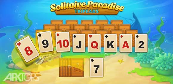 Solitaire Paradise Tripeaks دانلود بازی کارت بازی بهشت تکی