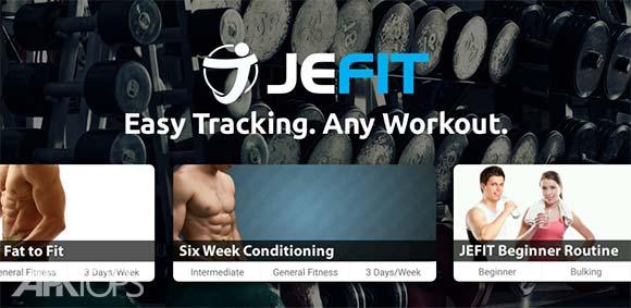 JEFIT Workout Tracker Weight Lifting Gym Log App دانلود برنامه ثبت گزارش و امار تمرینات ورزشی