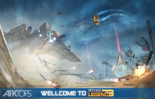Defense Legend 3 Future War v2.4.8 دانلود افسانه دفاع 3 جنگ اینده + مود اندروید