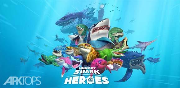 Hungry Shark Heroes دانلود بازی قهرمان های کوسه گرسنه
