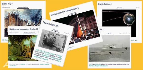 On this day Historical calendar دانلود برنامه تقویم تاریخی نمایش رویداد های تاریخی هر روز