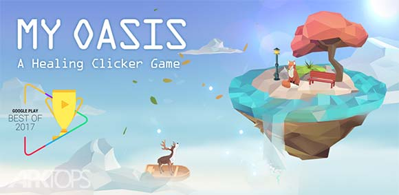 My Oasis Calming and Relaxing Idle Clicker Gam دانلود بازی کلیکی و ارامش بخش ابادی من