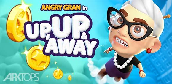 Angry Gran Up Up and Away Jump دانلود بازی پرش مادربزرگ عصبانی
