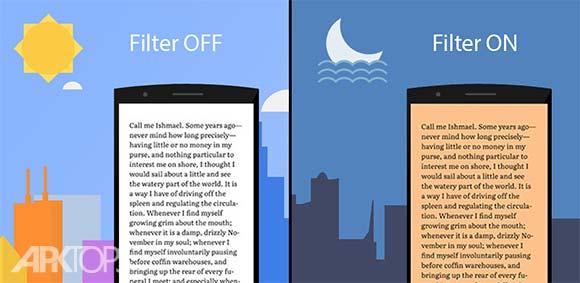 Night Light Pro Blue Light Filter Night Mode دانلود برنامه حالت نور شب برای صفحه نمایش