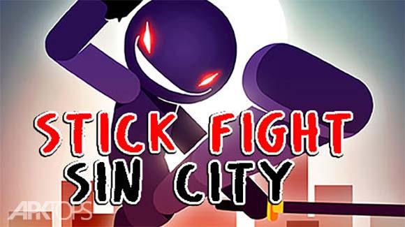 Stick Fight Sin City دانلود بازی مبارزی استیکمن در شهر گناه